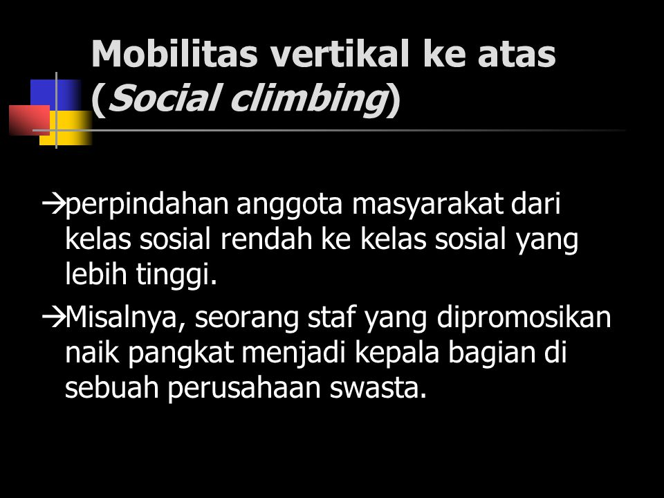 Mobilitas vertikal ke atas (Social climbing)