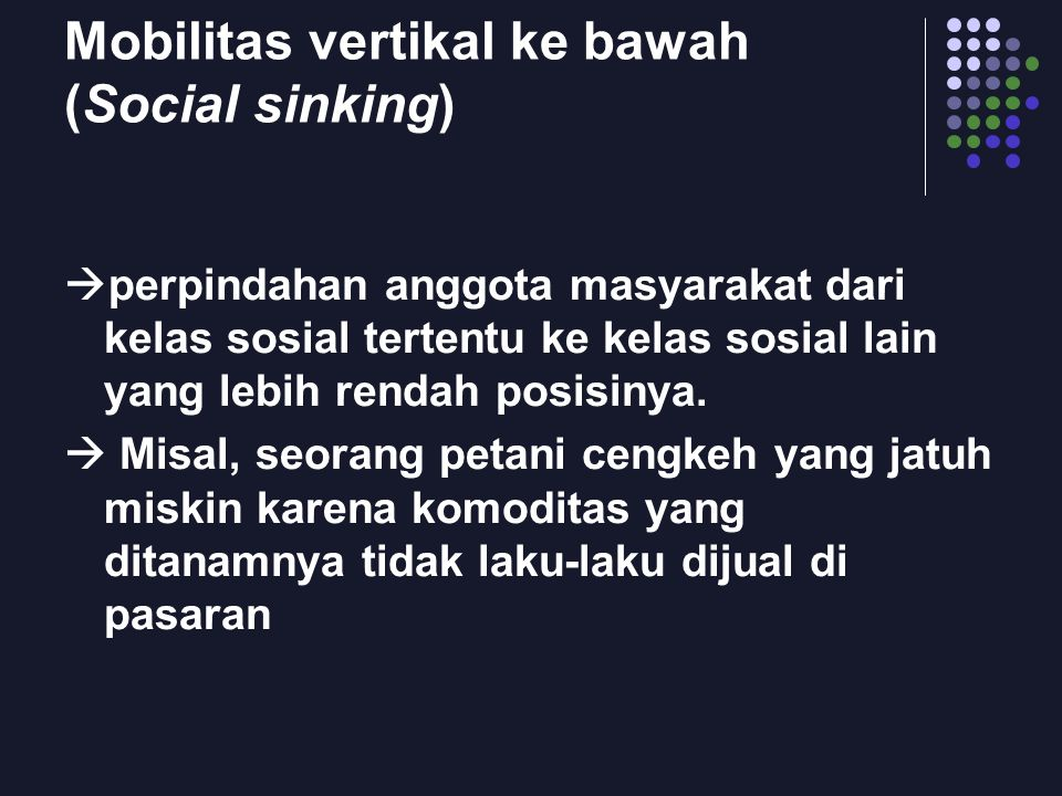 Mobilitas vertikal ke bawah (Social sinking)