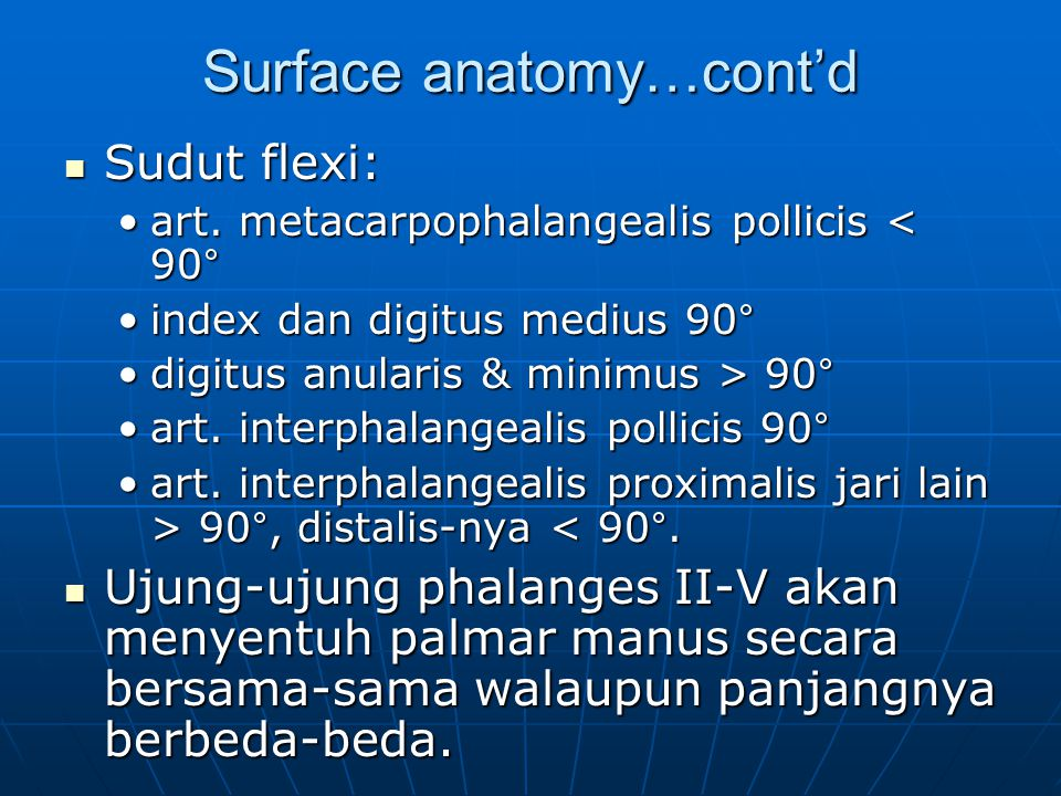 Surface anatomy…cont'd