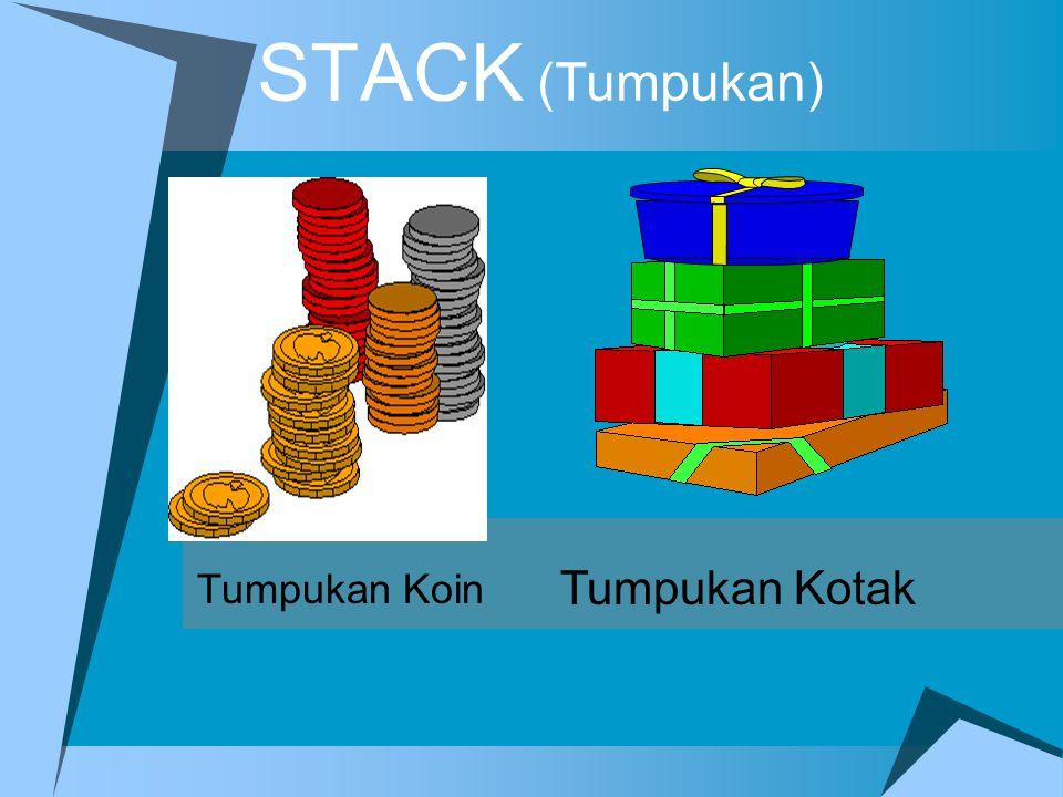 STACK (Tumpukan) Tumpukan Koin Tumpukan Kotak