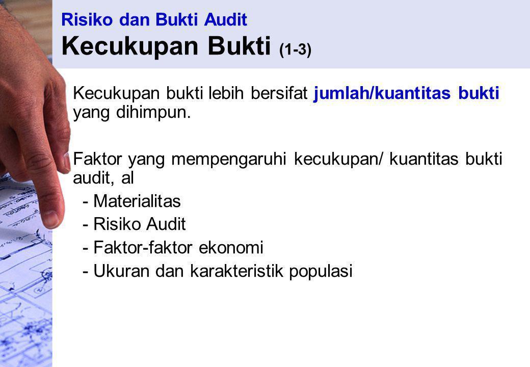 Risiko dan Bukti Audit Kecukupan Bukti (1-3)