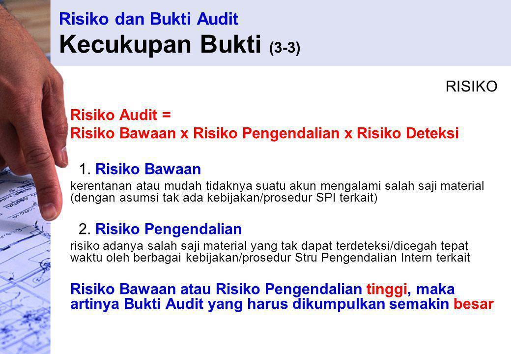 Risiko dan Bukti Audit Kecukupan Bukti (3-3)