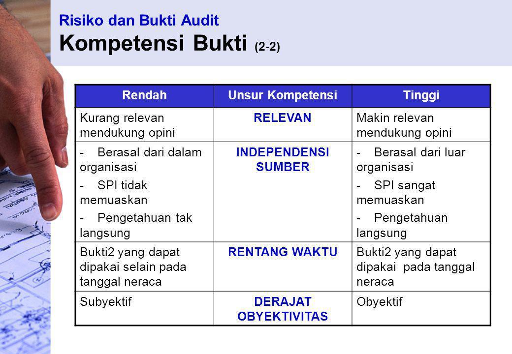 Risiko dan Bukti Audit Kompetensi Bukti (2-2)