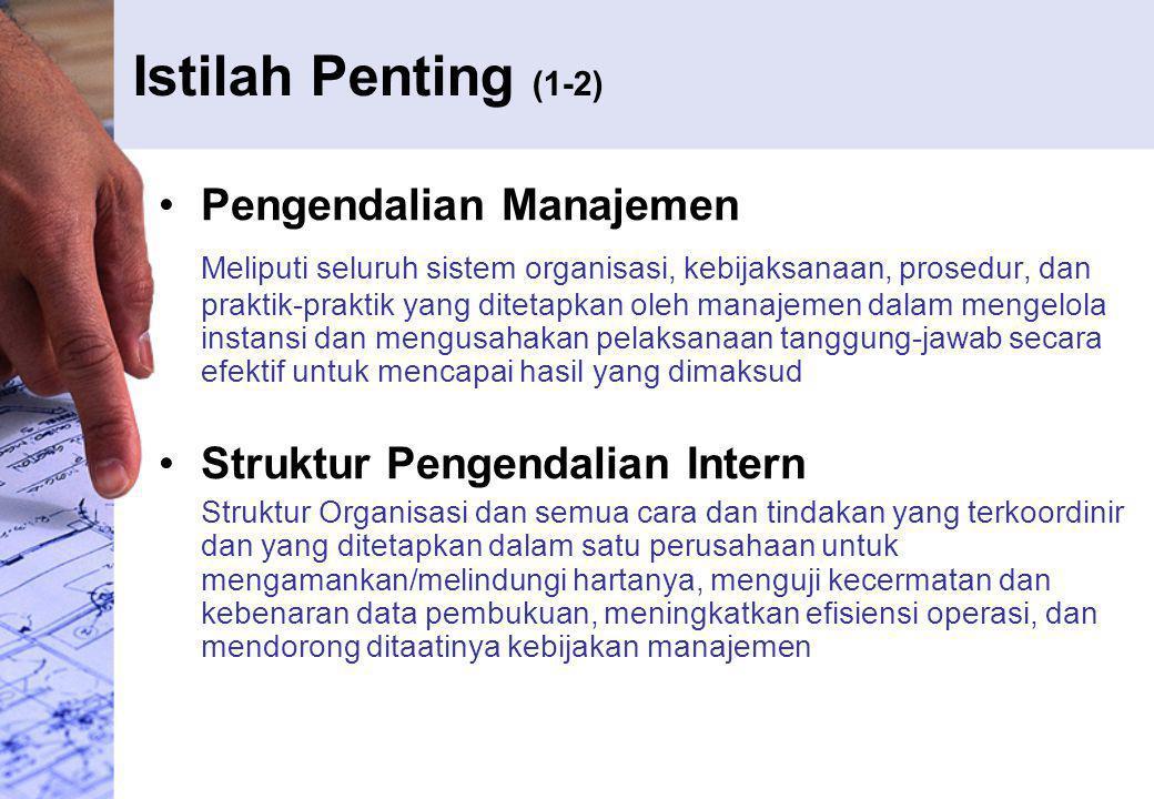 Istilah Penting (1-2) Pengendalian Manajemen