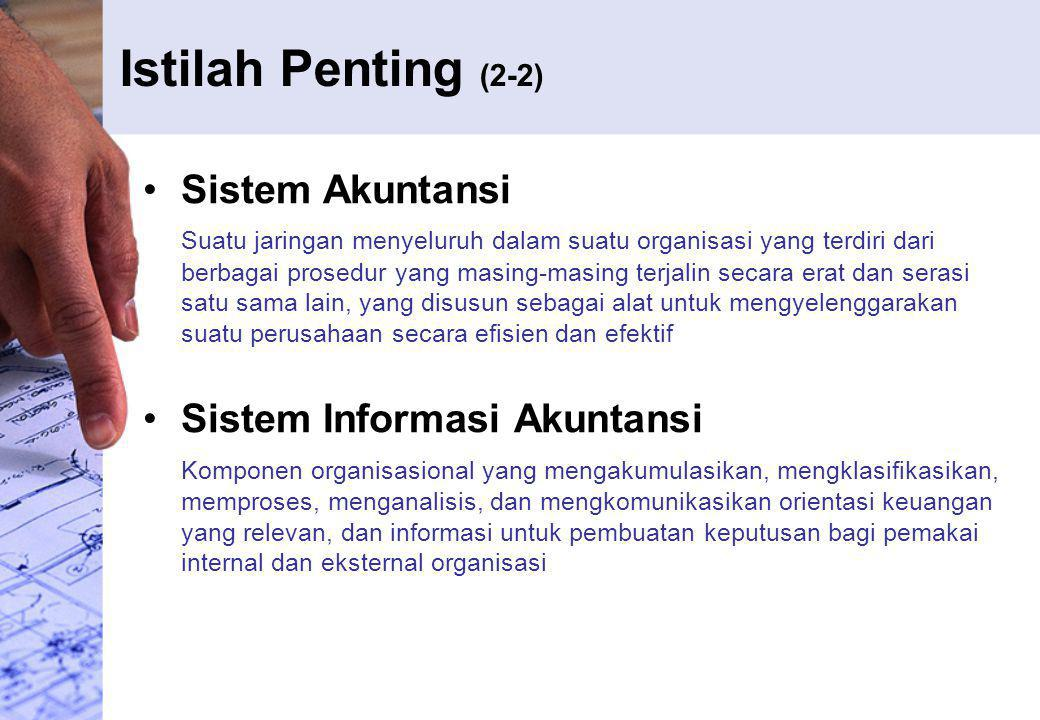 Istilah Penting (2-2) Sistem Akuntansi Sistem Informasi Akuntansi