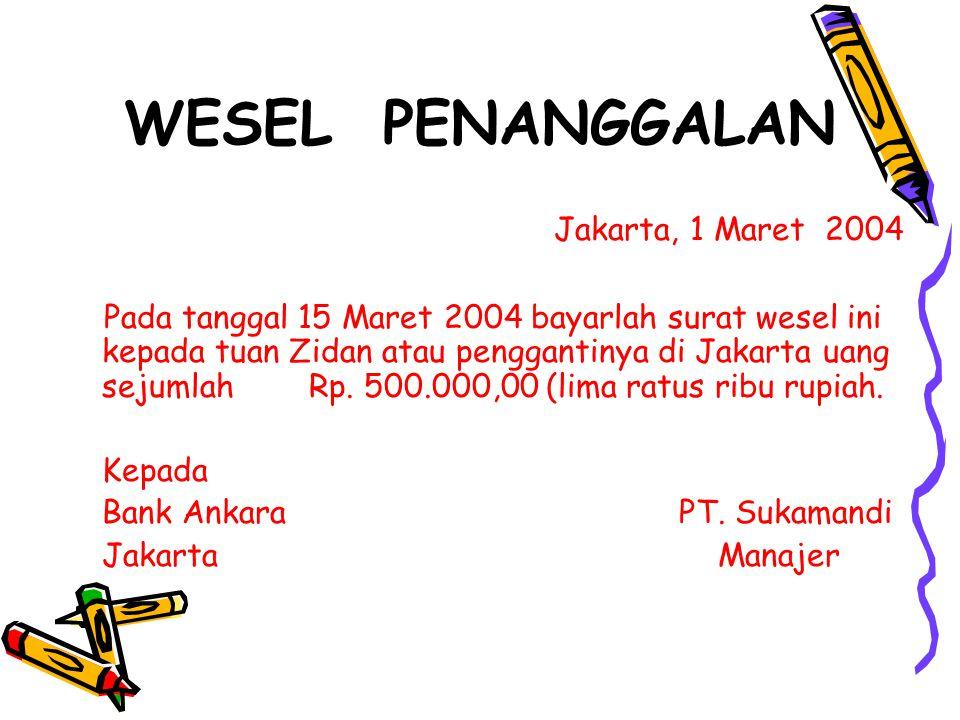 WESEL PENANGGALAN Jakarta, 1 Maret 2004