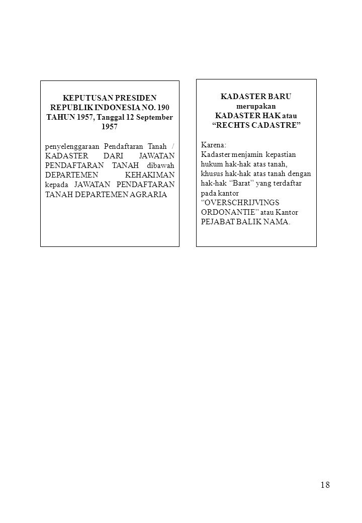 KEPUTUSAN PRESIDEN REPUBLIK INDONESIA NO