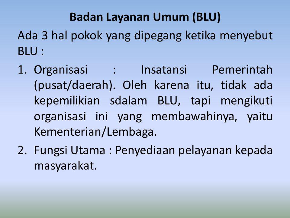 Badan Layanan Umum (BLU)