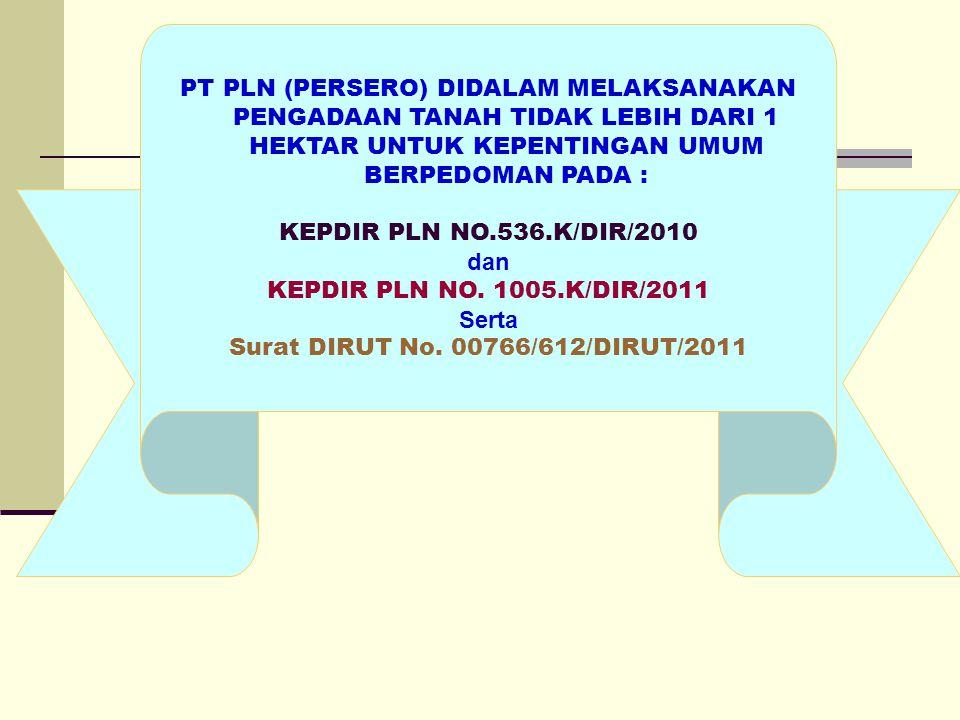 Surat DIRUT No. 00766/612/DIRUT/2011