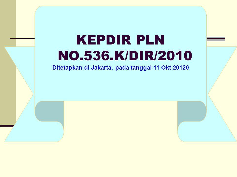 Ditetapkan di Jakarta, pada tanggal 11 Okt 20120