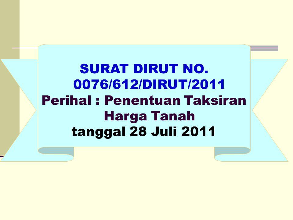 SURAT DIRUT NO. 0076/612/DIRUT/2011