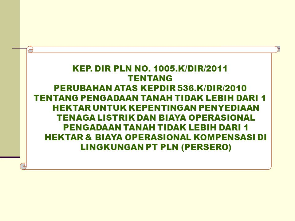 PERUBAHAN ATAS KEPDIR 536.K/DIR/2010