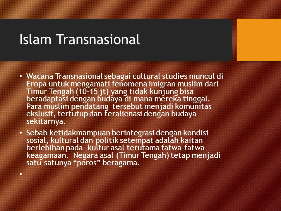 Islam Transnasional