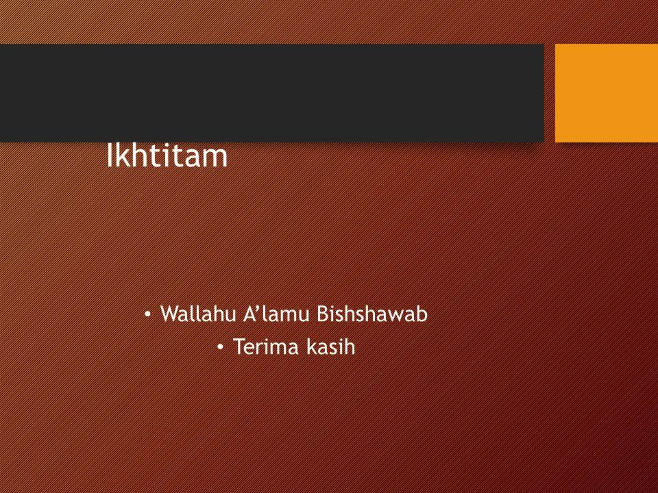 Wallahu A'lamu Bishshawab