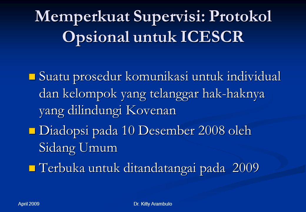 Memperkuat Supervisi: Protokol Opsional untuk ICESCR