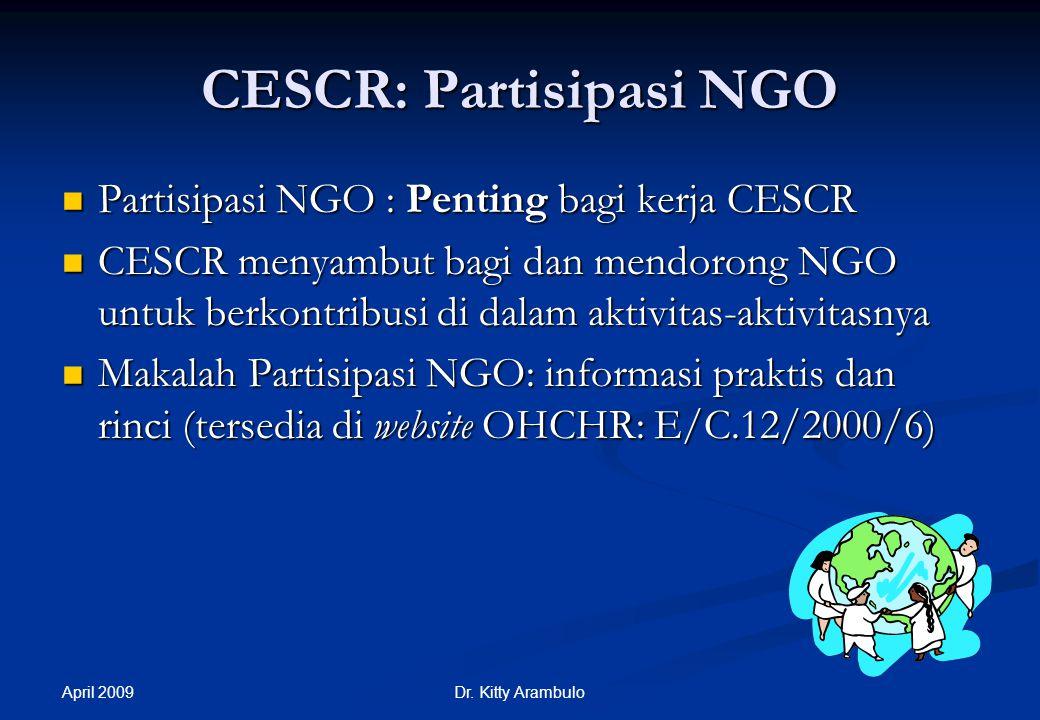 CESCR: Partisipasi NGO