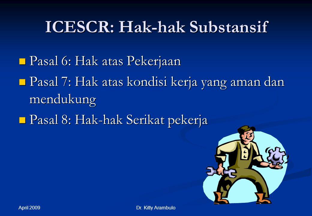 ICESCR: Hak-hak Substansif