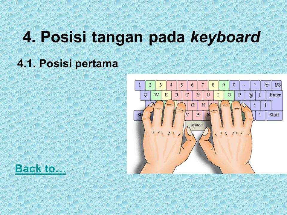 4. Posisi tangan pada keyboard