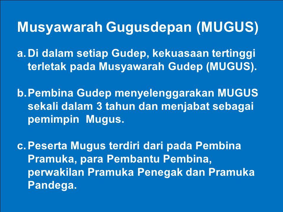 Musyawarah Gugusdepan (MUGUS)