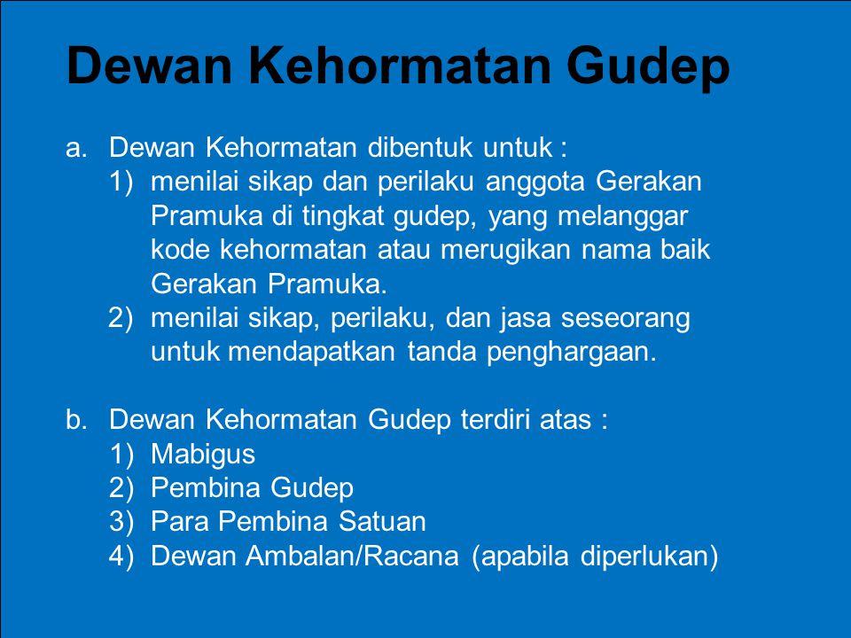 Dewan Kehormatan Gudep