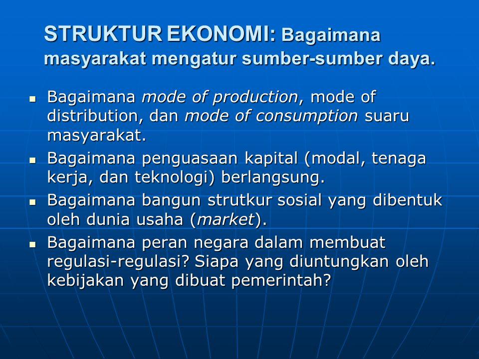 STRUKTUR EKONOMI: Bagaimana masyarakat mengatur sumber-sumber daya.