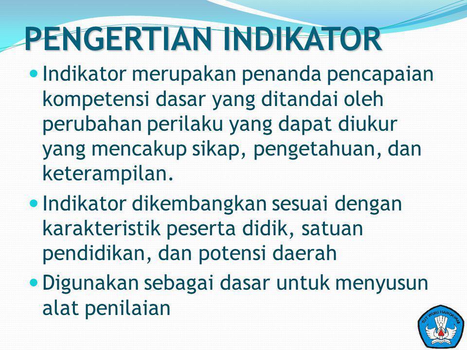 PENGERTIAN INDIKATOR