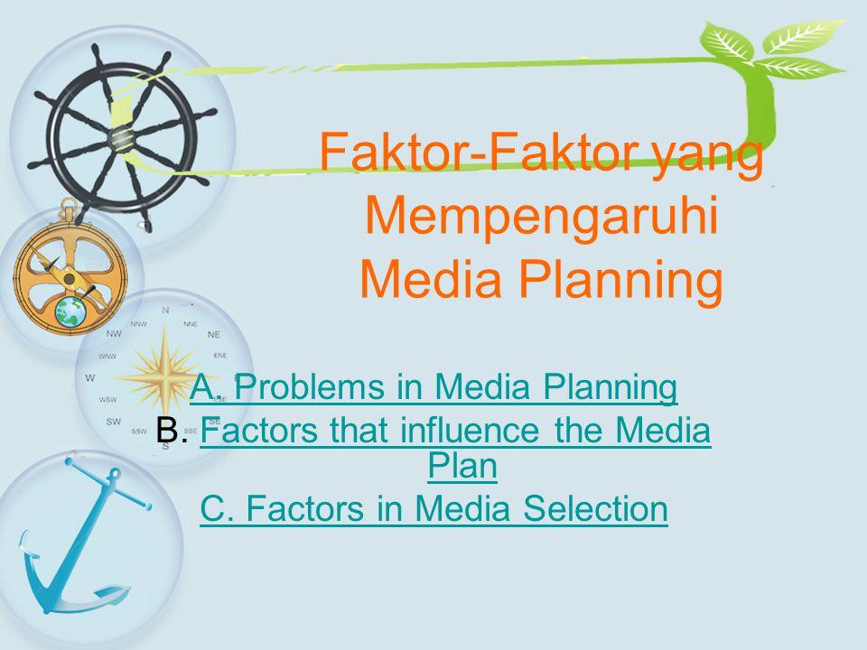 Faktor-Faktor yang Mempengaruhi Media Planning