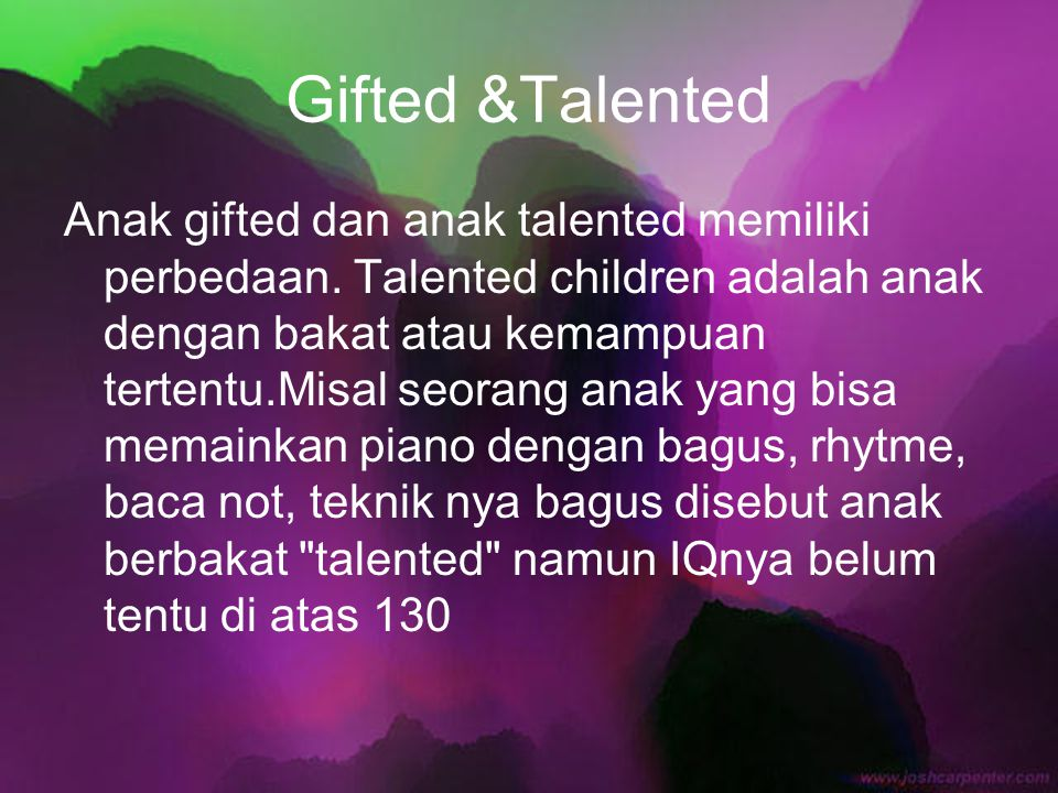 Gifted &Talented
