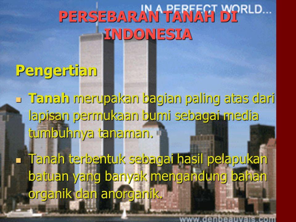 PERSEBARAN TANAH DI INDONESIA