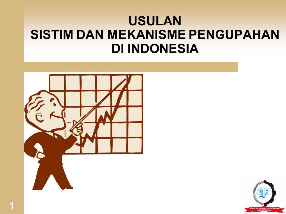 USULAN SISTIM DAN MEKANISME PENGUPAHAN DI INDONESIA