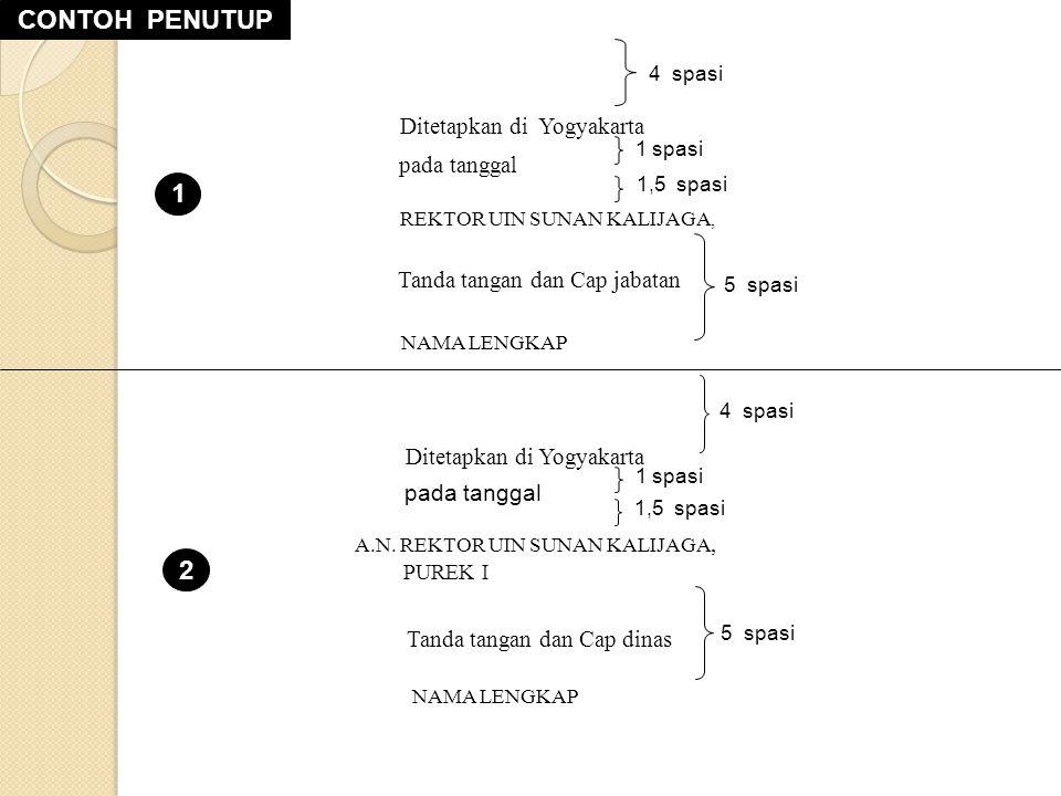 Ditetapkan di Yogyakarta
