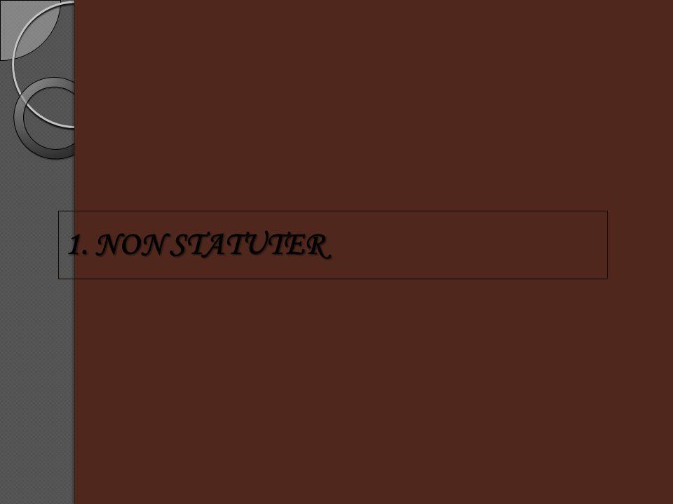 1. NON STATUTER