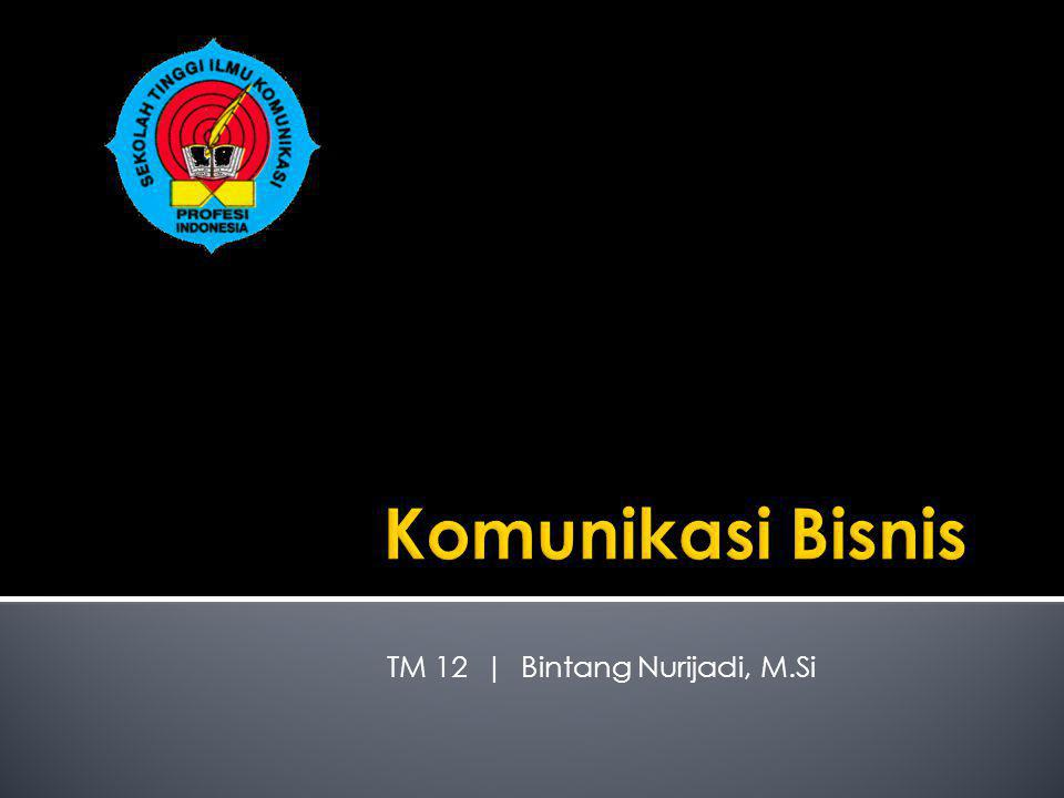TM 12 | Bintang Nurijadi, M.Si