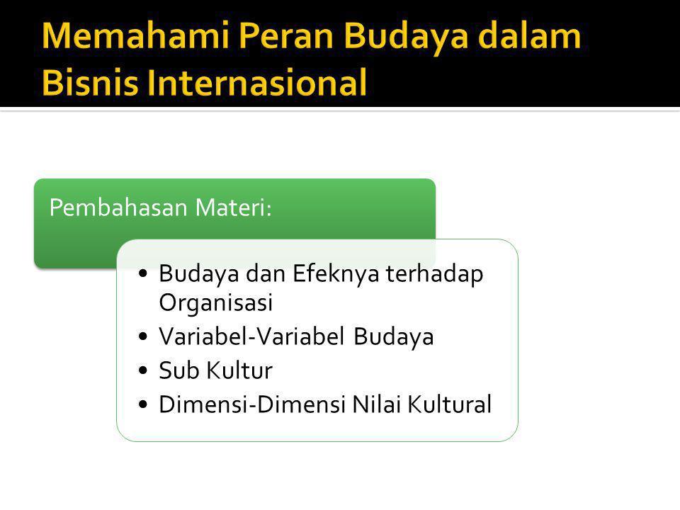 Memahami Peran Budaya dalam Bisnis Internasional