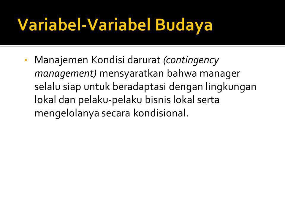 Variabel-Variabel Budaya