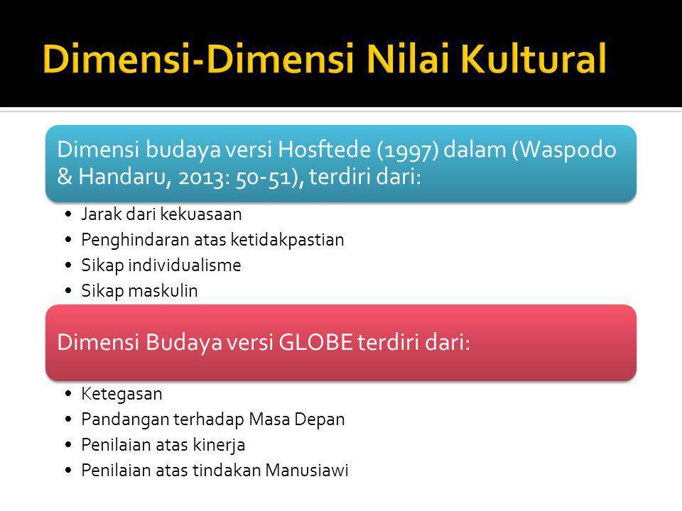 Dimensi-Dimensi Nilai Kultural