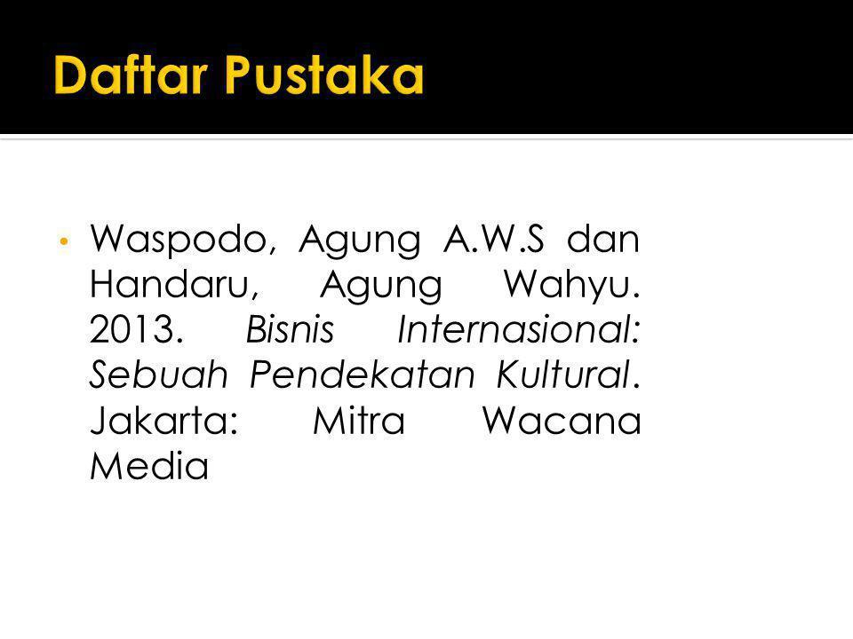 Daftar Pustaka Waspodo, Agung A.W.S dan Handaru, Agung Wahyu.