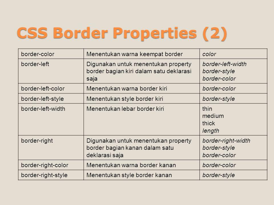 CSS Border Properties (2)