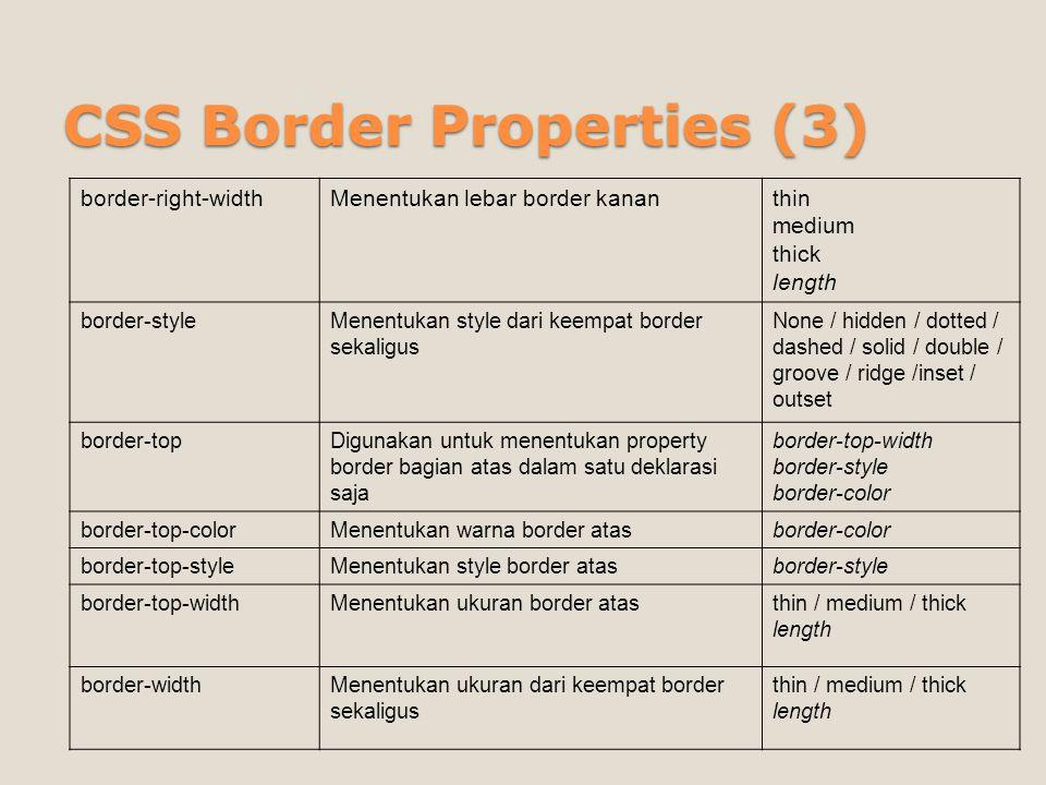 CSS Border Properties (3)