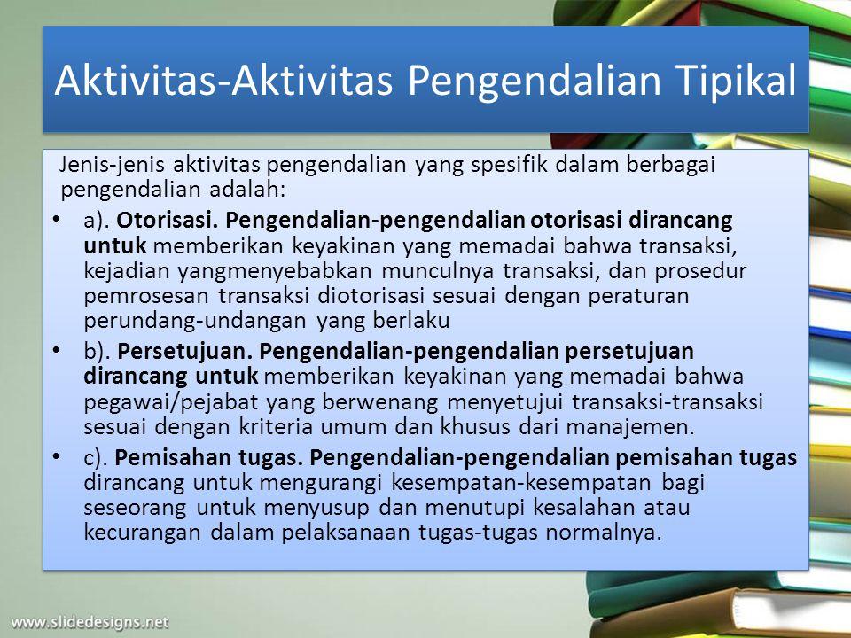Aktivitas-Aktivitas Pengendalian Tipikal