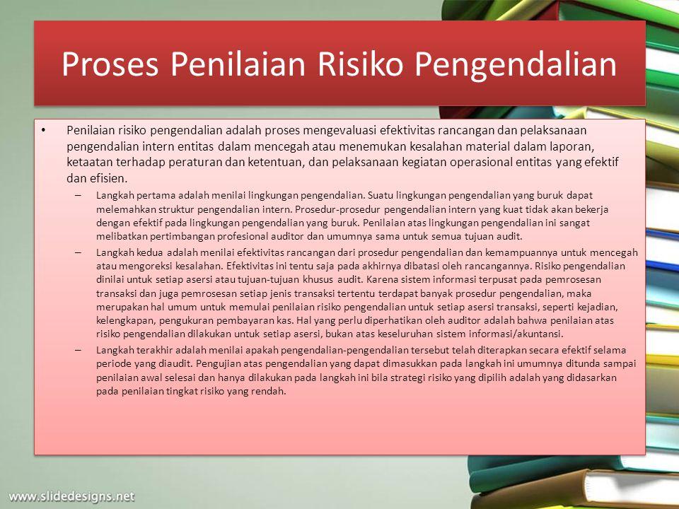 Proses Penilaian Risiko Pengendalian