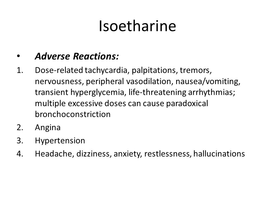 Isoetharine Adverse Reactions: