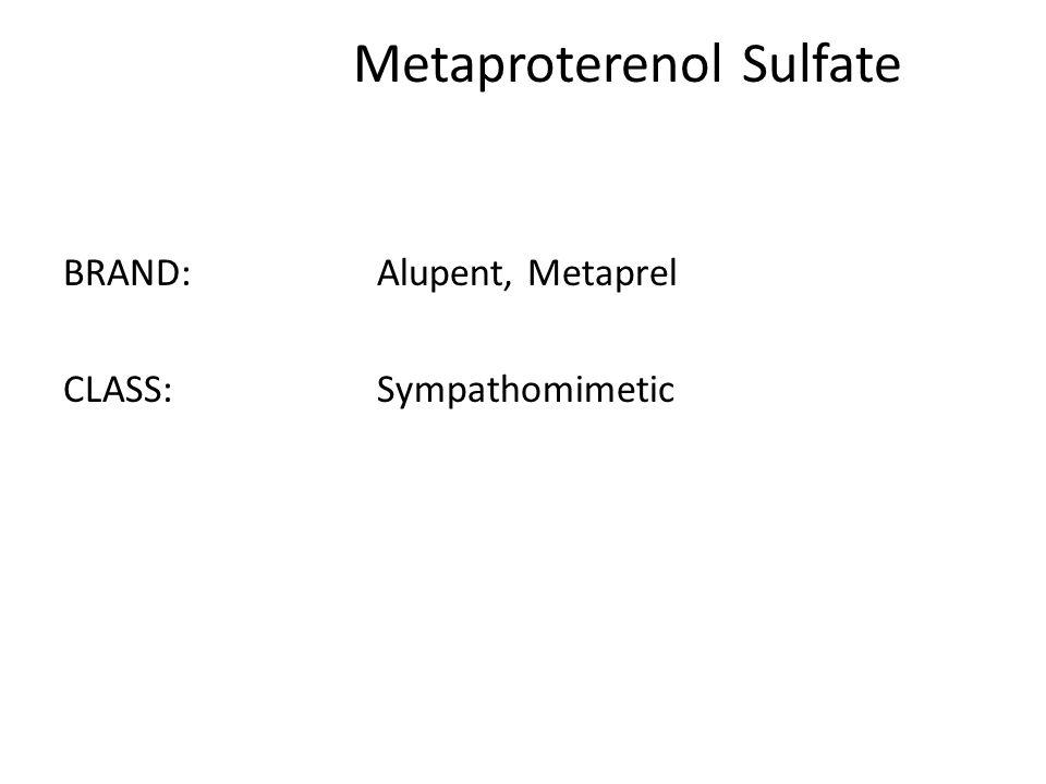 Metaproterenol Sulfate