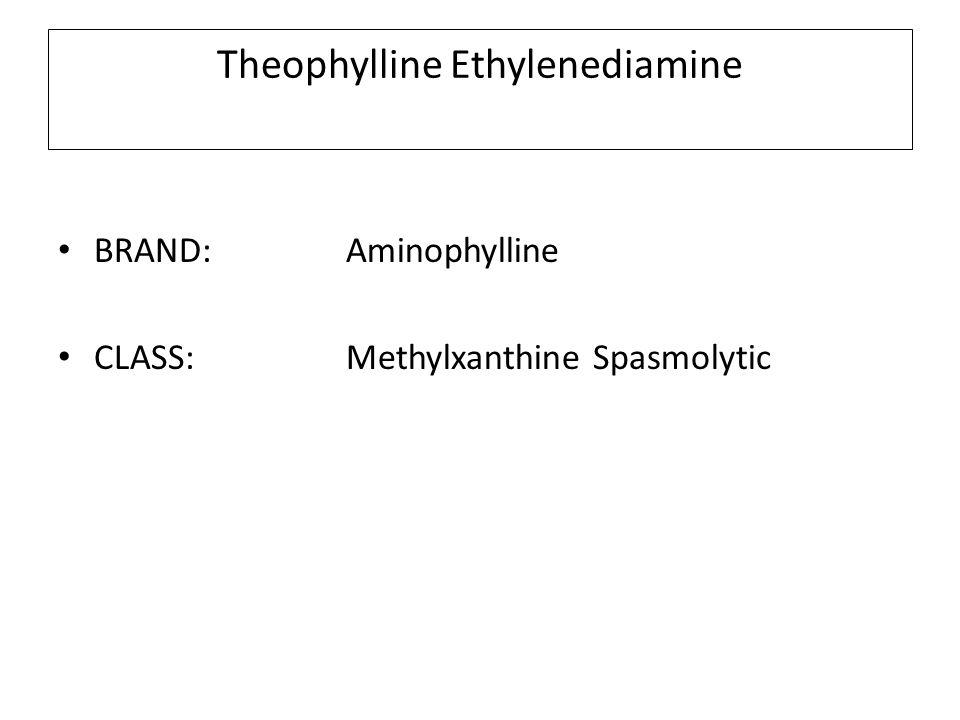 Theophylline Ethylenediamine