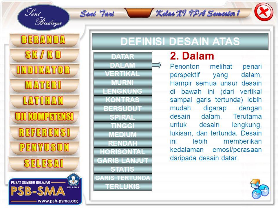 DEFINISI DESAIN ATAS 2. Dalam DATAR
