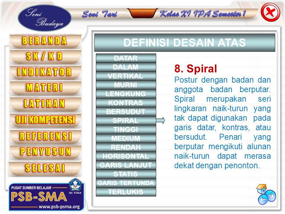 DEFINISI DESAIN ATAS 8. Spiral