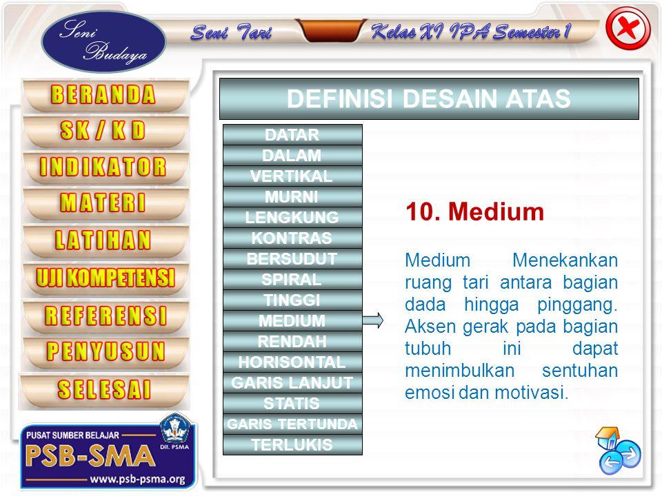 DEFINISI DESAIN ATAS 10. Medium