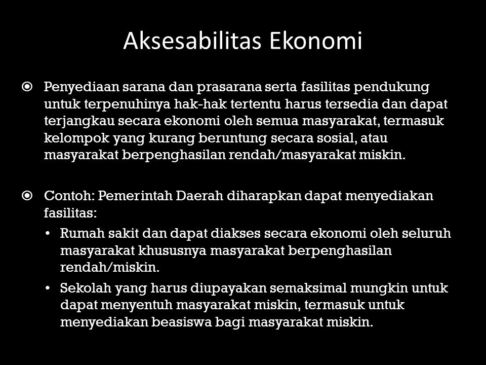 Aksesabilitas Ekonomi