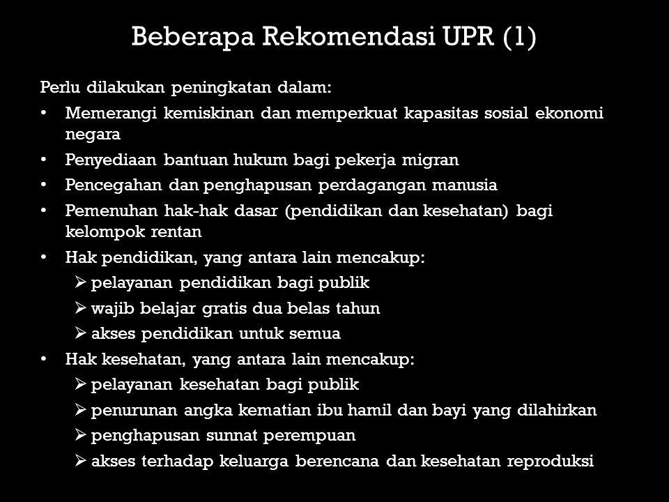 Beberapa Rekomendasi UPR (1)