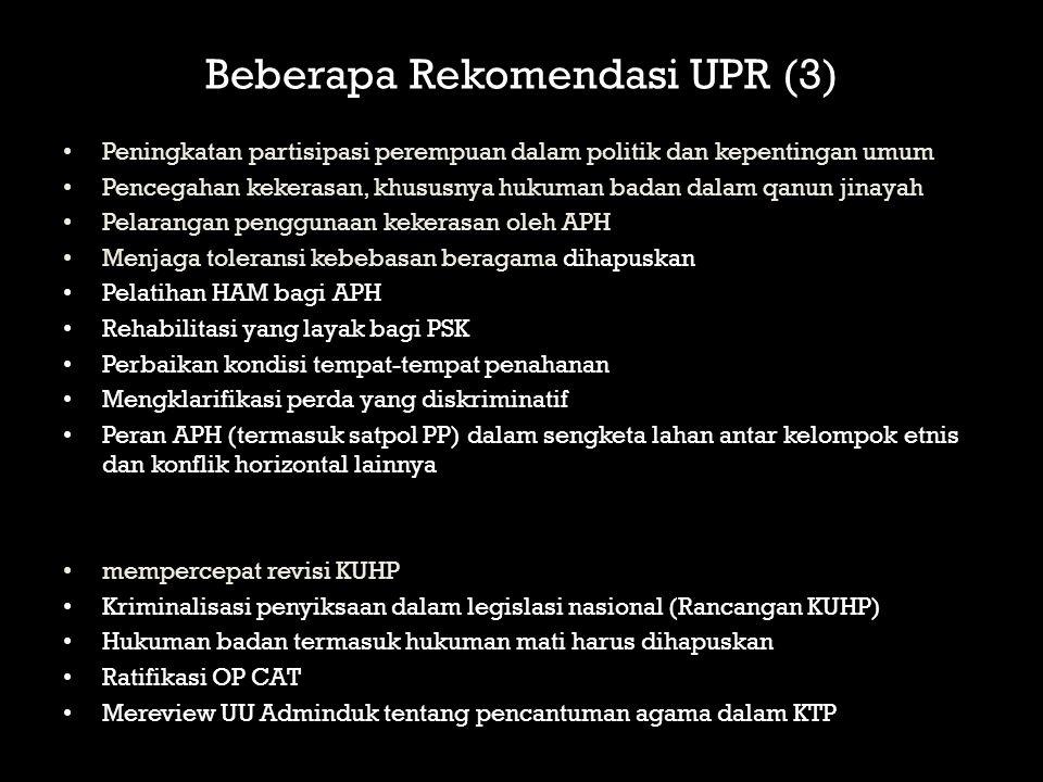 Beberapa Rekomendasi UPR (3)